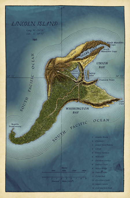 Map of Lincoln Island