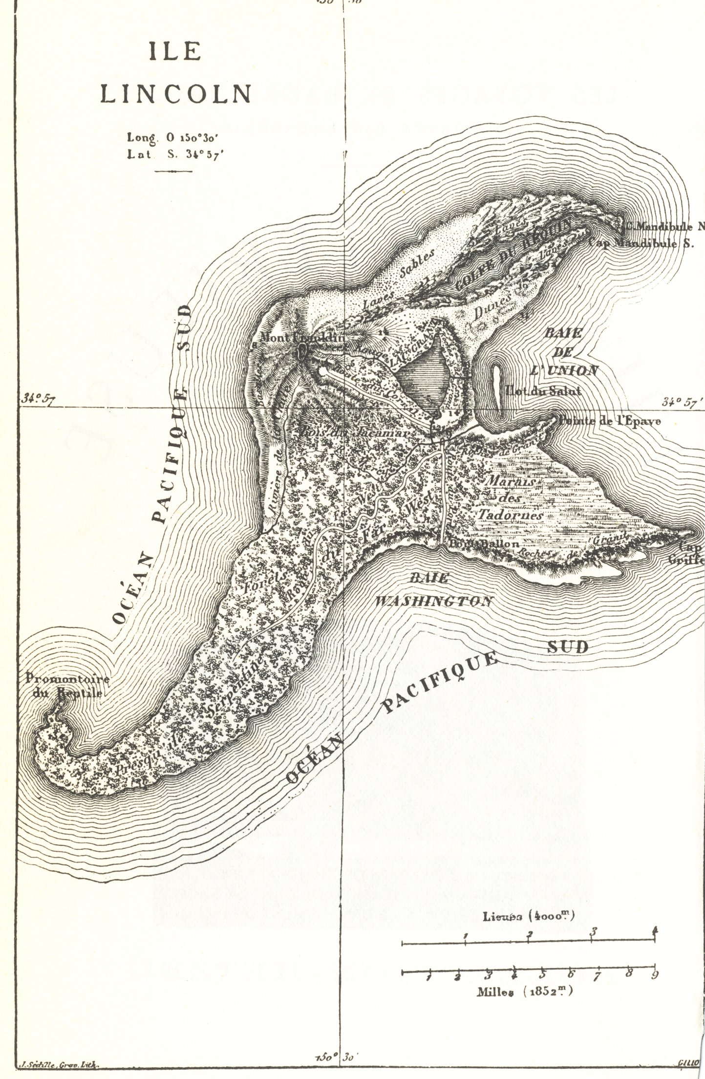 Jules Verne Mysterious Island Map